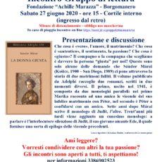 Gruppo di lettura: incontro del 27 giugno