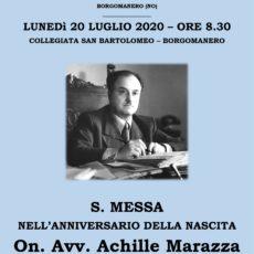 Messa anniversario Achille Marazza