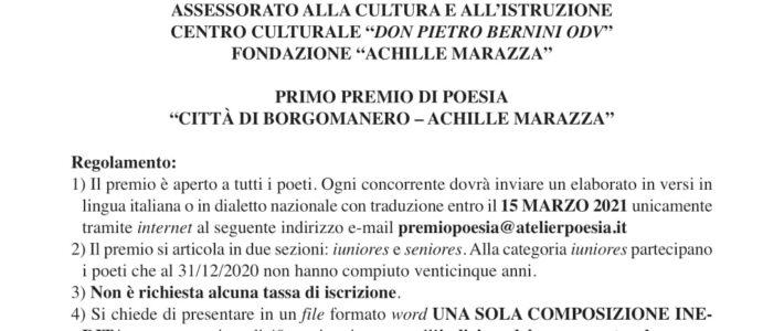 """Premio di poesia """"Città di Borgomanero – Achille Marazza"""""""